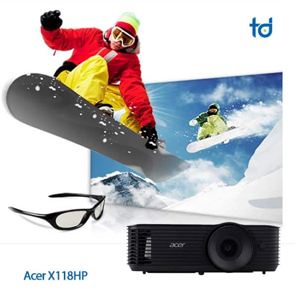 3d acer x118hp projector 4000 lumens